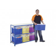 Rapid 2 Storage Bay With 6 x 35 Litre Really Useful Boxes