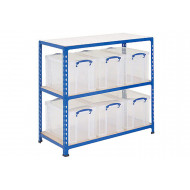 Rapid 2 Storage Bay With 6 x 84 Litre Really Useful Boxes