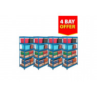 Budget Shelving 4 Bay Bundle Deal