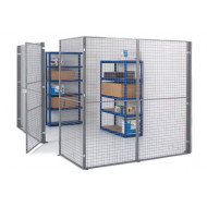 Mesh partitioning panels