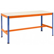 Rapid 1 Heavy Duty Workbench With T Bar Support (Blue/Orange)