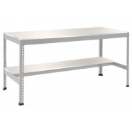 Rapid 1 Heavy Duty Workbench With Lower Half Shelf (Grey)