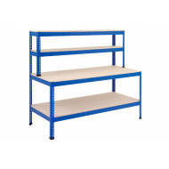 Rapid 1 Heavy Duty Workstation With Full Lower Shelf (Blue)