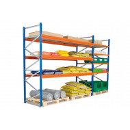 Heavy Duty Widespan Shelving With Chipboard Shelves 2140wx2000h