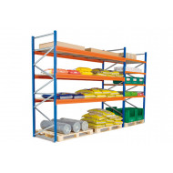 Heavy Duty Widespan Shelving With Chipboard Shelves 2315wx2000h