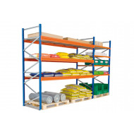Heavy duty widespan shelving with galvanized steel shelves 2315wx2000h