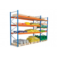 Heavy Duty Widespan Shelving With Chipboard Shelves 2315wx2500h