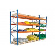 Heavy Duty Widespan Shelving With Galvanized Steel Shelves 2675wx2500h