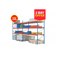 2 Bay Wide Span Shelving Kit 2000mm High