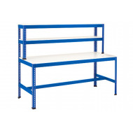 Rapid 1 Heavy Duty Workstation With T Bar Support (Blue)