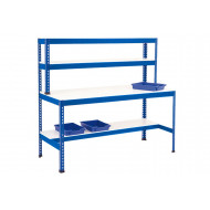 Rapid 1 Heavy Duty Workstation With Half Lower Shelf (Blue)
