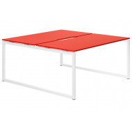 Next-Day Campos Hooped Leg 2 Person Back To Back Bench Desk (Red)