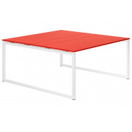 Next-Day Campos Hooped Leg 6-8 Person Meeting Table (Red)