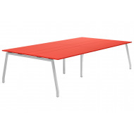 Next-Day Campos A-Frame 10-12 Person Meeting Table (Red)