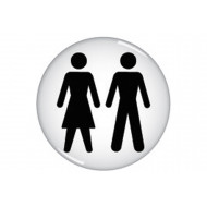 Male/Female Symbol Domed Acrylic Sign