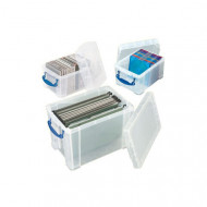 Really Useful Box Bundle Deal With 1 x 19ltr And 2 x 3ltr Boxes (Clear)
