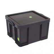 Recycled 42Ltr Really Useful Box (Black)