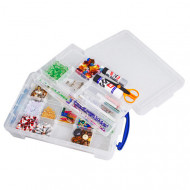 Pack Of 4 x 4ltr Really Useful Boxes With Dividers (Clear)