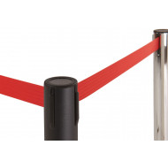 Retractable Barrier System (Black Post)