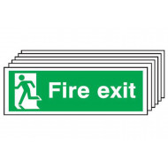 Fire Exit Sign With Man Running On Left (Multipack)