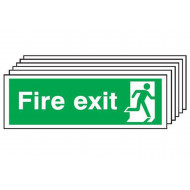 Fire Exit Sign With Man Running On Right (Multipack)