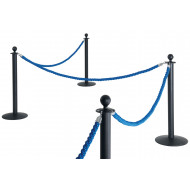 Rope And Pole Barrier System (Black Post)