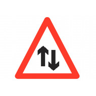 Right Of Way Reflective Roll Up Traffic Sign
