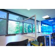 Guard Desk Mounted Clear Protective Desk Screens