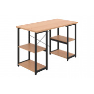 Shen Home Office Desk With Square Shelves (Black Frame)