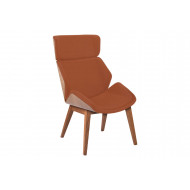 Alba Chair With 4 Wooden 4 Legs & Outer Back