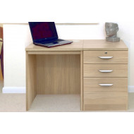 Small Office Desk Set With 2 Standard Drawers & 1 Filing Drawer (Sandstone)