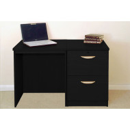 Small Office Desk Set With 2 Drawer Filing Cabinet (Black Havana)