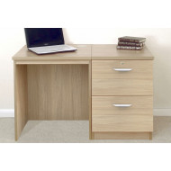 Small Office Desk Set With 2 Drawer Filing Cabinet (Sandstone)