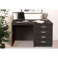 Small Office Desk Set With 4 Standard Drawers (Black Havana)