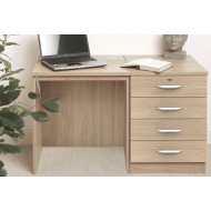 Small Office Desk Set With 4 Standard Drawers (Sandstone)