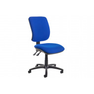 Isla High Back Fabric Operator Chair No Arms (Blue)