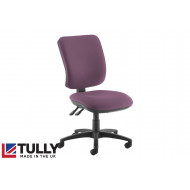 Tully High Square Back Asynchro Operator Chair (No Arms)