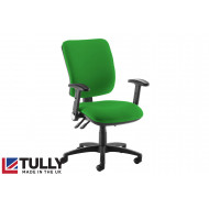Tully High Square Back Asynchro Operator Chair (Folding Arms)