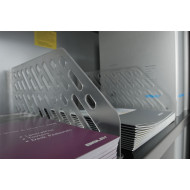 Pack Of 5 Plastic Slotted Shelf Dividers For Bisley Essentials Cupboards