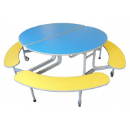 Sico Graduate 8 Seater Oval Seating Unit With Benches