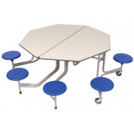 Sico Graduate 8 Seater Octagonal Seating Unit With Stools