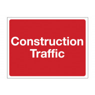 Construction Traffic Construction Sign