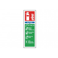 Dry Powder Extinguisher Sign Safety Sign