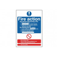 Fire Action Notice Safety Sign (Standard)