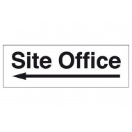 Site Office Sign With Arrow Pointing Left