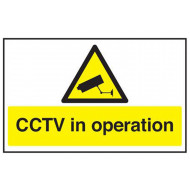 CCTV In Operation Safety Sign