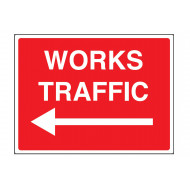 Works Traffic Arrow Left Stanchion Sign