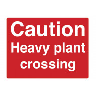 Caution Heavy Plant Crossing Stanchion Sign