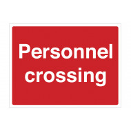 Personnel Crossing Stanchion Sign