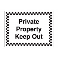 Private Property Keep Out Security Sign